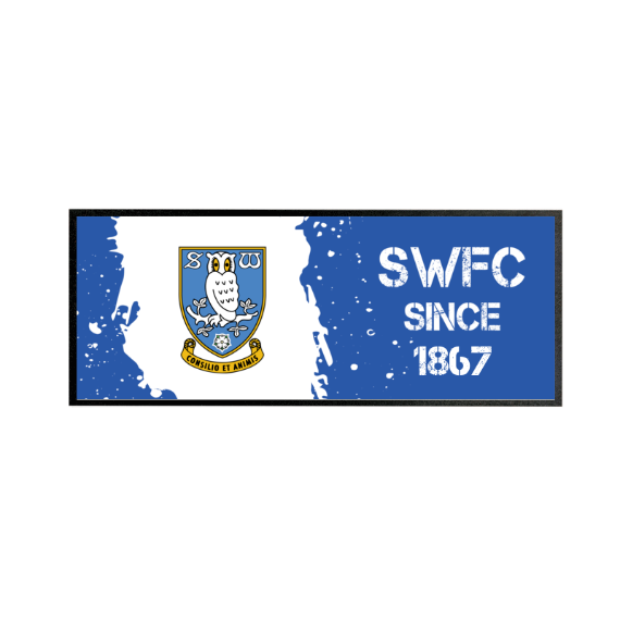 Sheffield Wednesday FC Paint Splash Regular Bar Runner