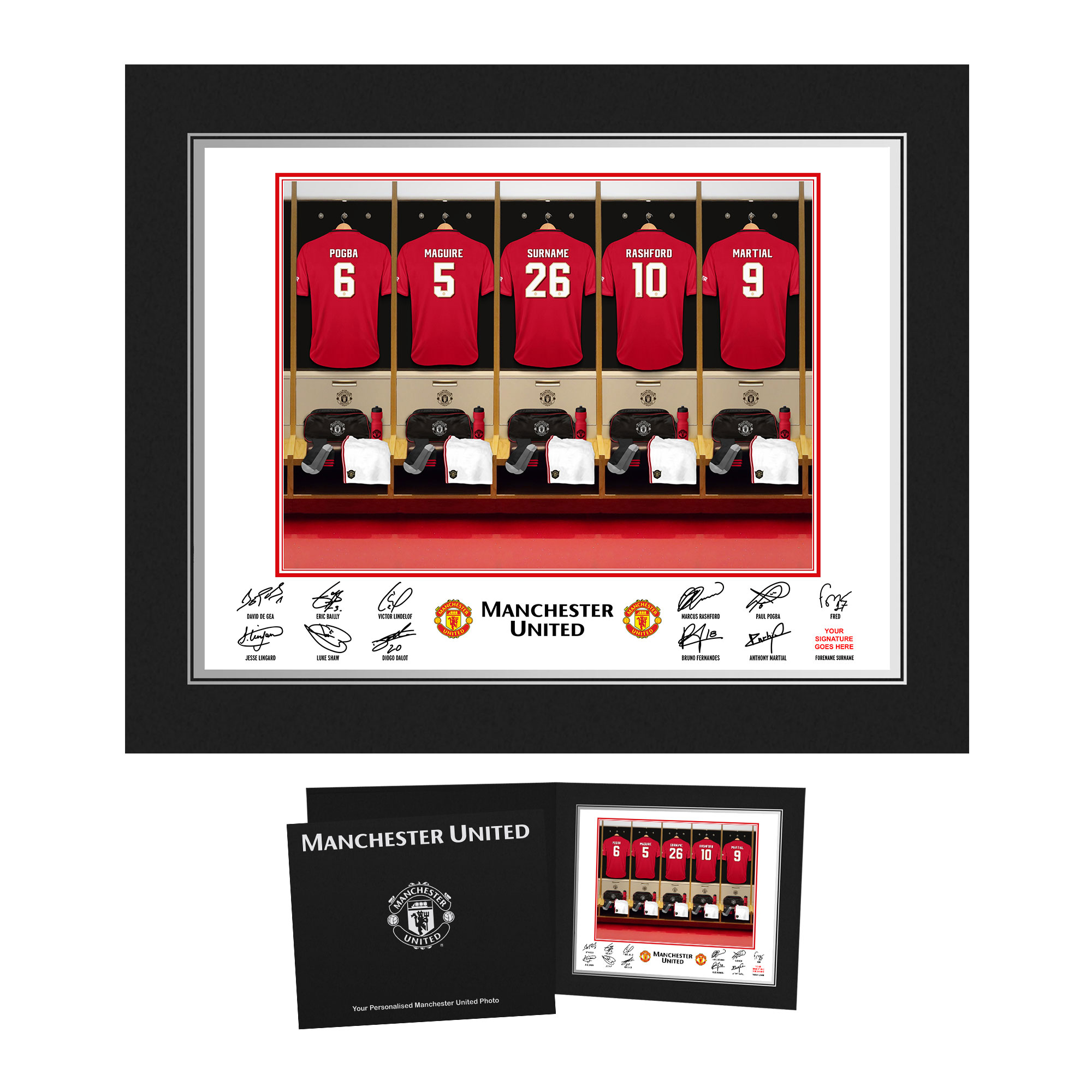 Manchester United FC Dressing Room Photo Folder