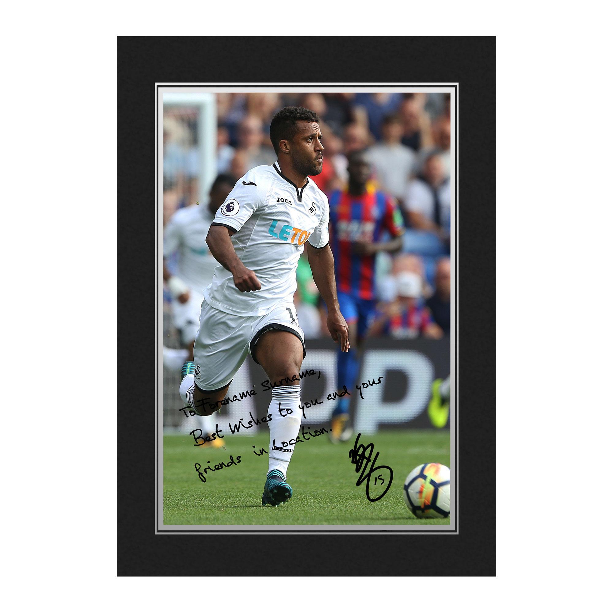 Swansea City AFC Routledge Autograph Photo Folder