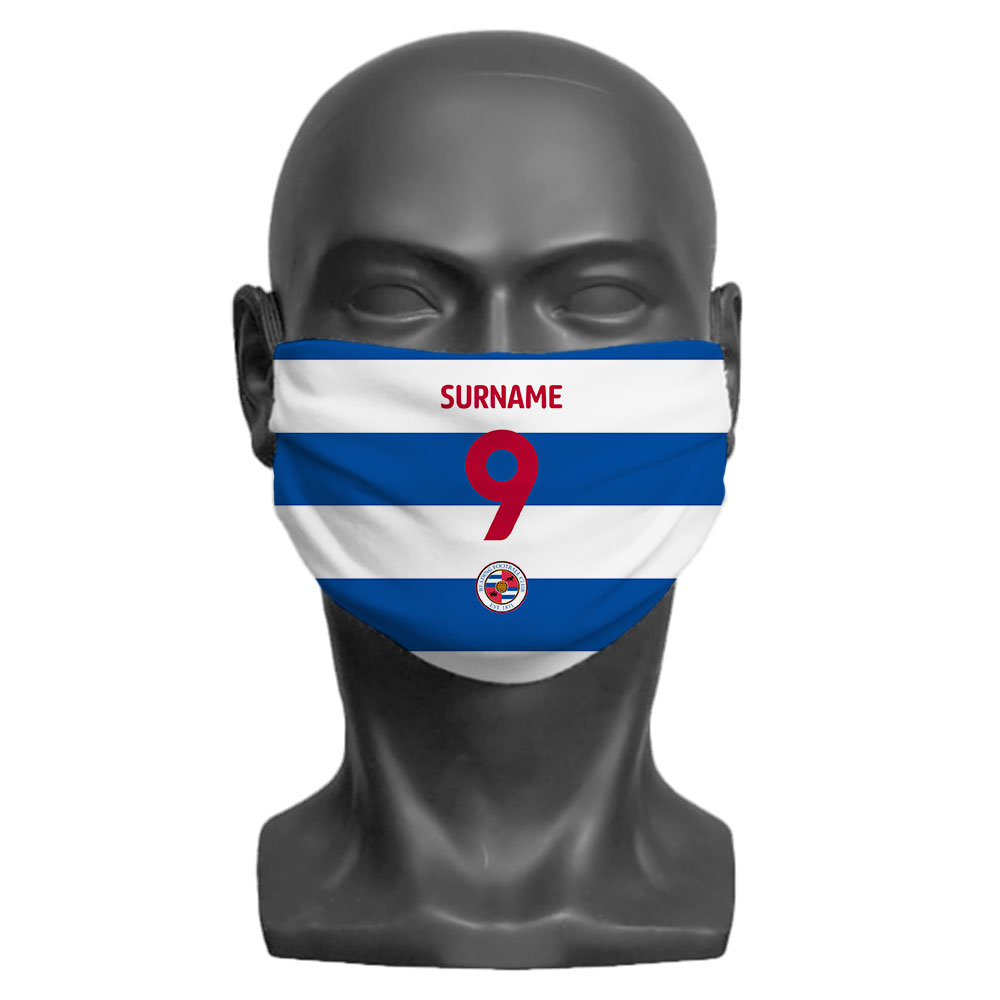 Reading FC Back of Shirt Adult Face Mask (Large)