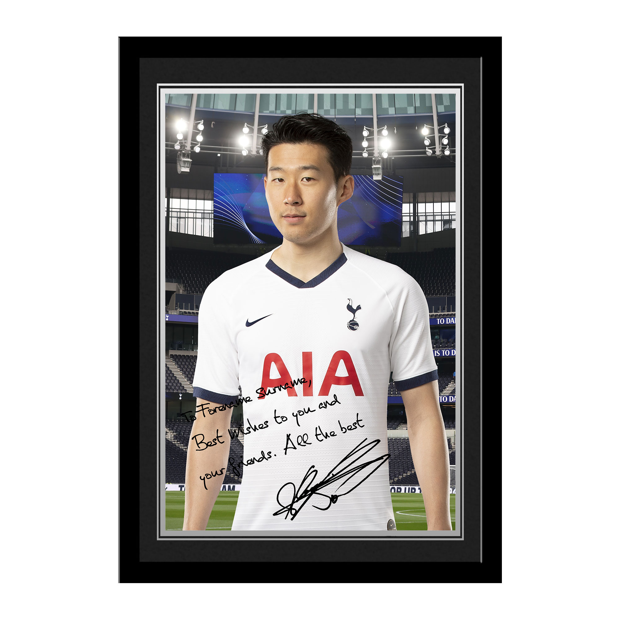 Tottenham Hotspur Son Autograph Photo Framed