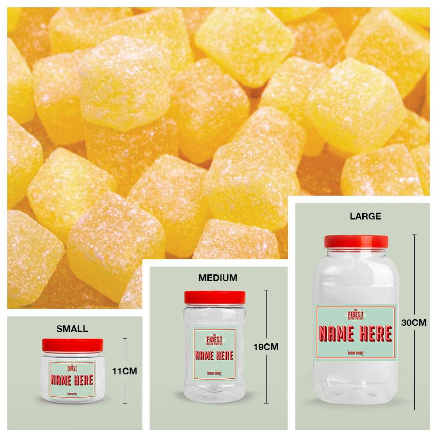 Personalised Pineapple Cubes Jar