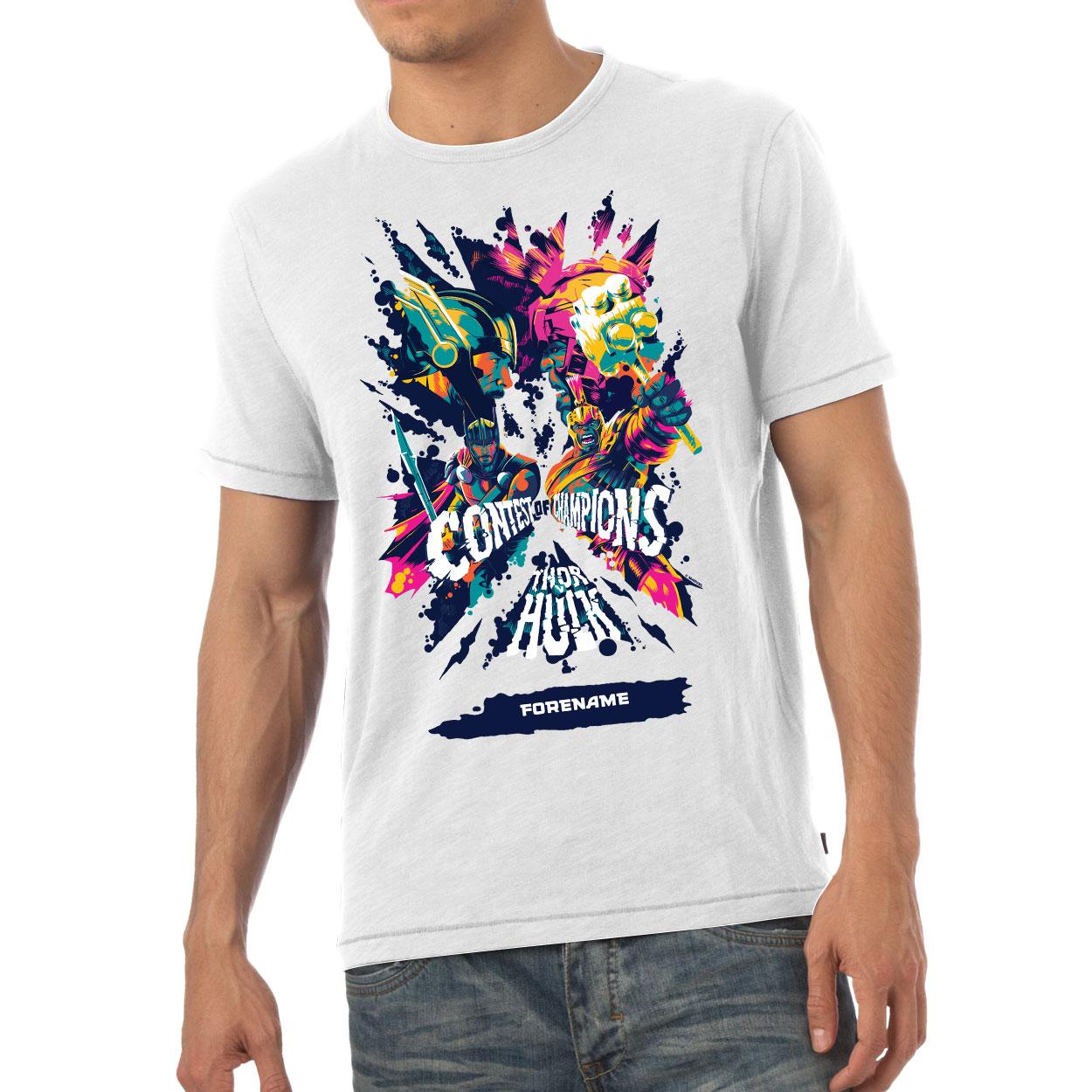 Marvel Thor Ragnarok Colour Badge Mens T-Shirt