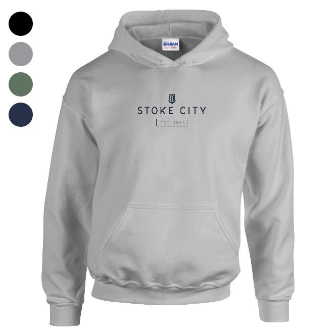 Stoke City FC Minimal Hoodie