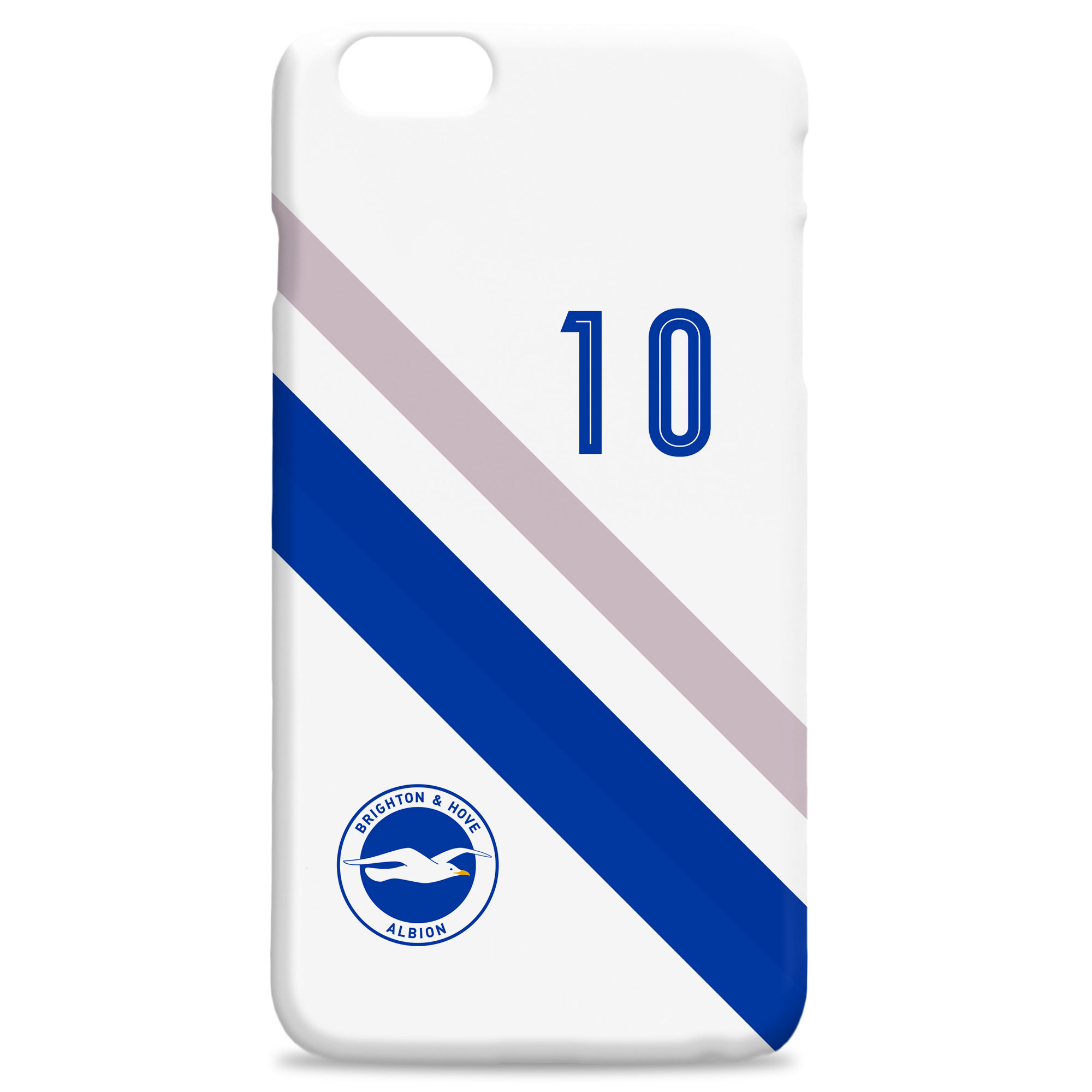 Brighton & Hove Albion Stripe Hard Back Phone Case