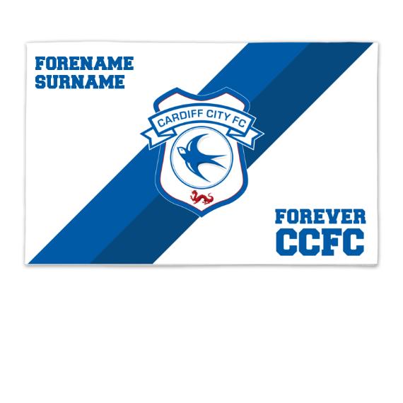 Cardiff City FC Forever 8ft x 5ft Banner