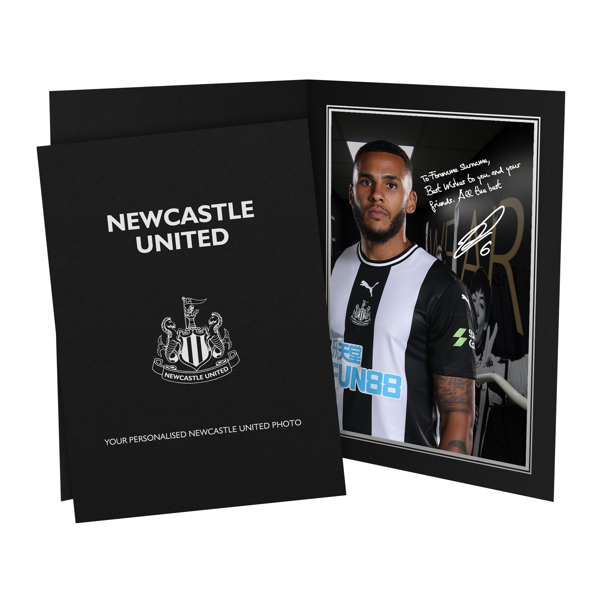 Newcastle United FC Lascelles Autograph Photo Folder