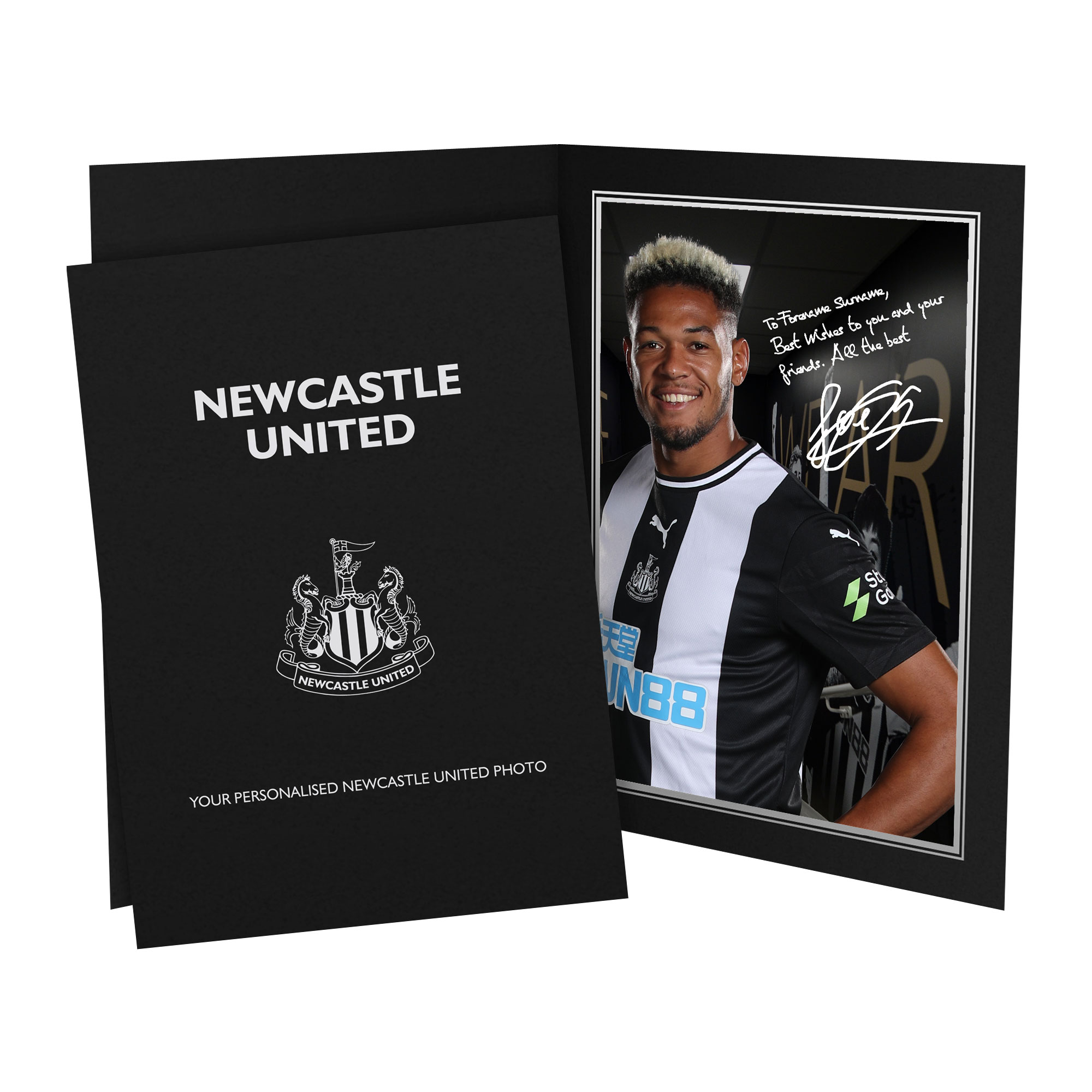 Newcastle United FC Joelinton Autograph Photo Folder