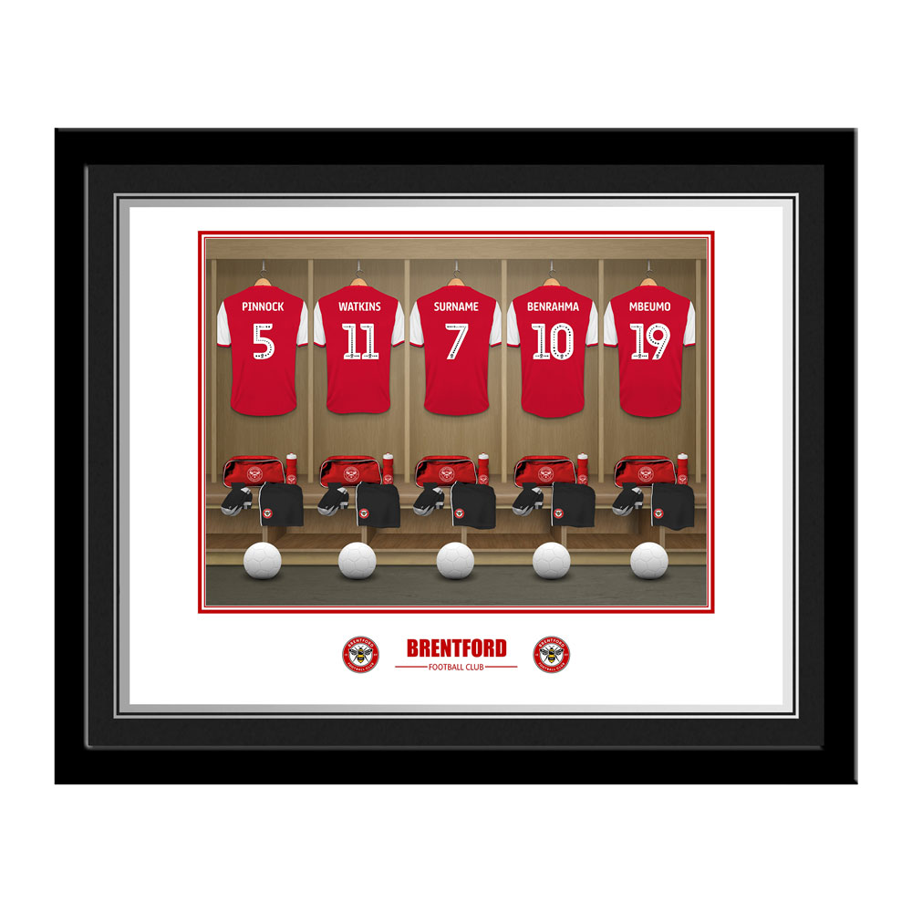Brentford FC Dressing Room Photo Framed