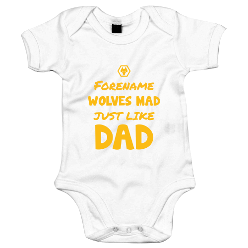 Wolves Mad Like Dad Baby Bodysuit