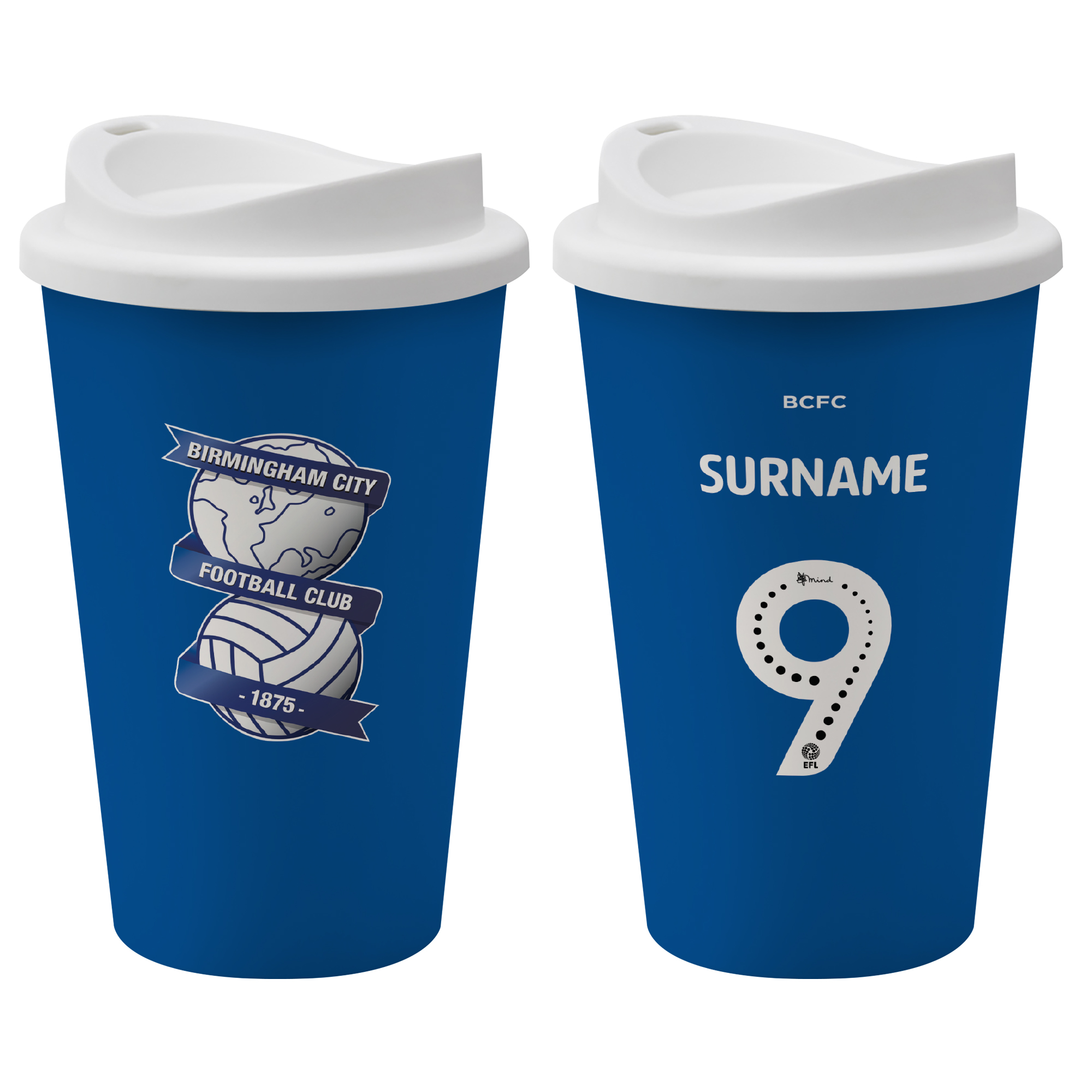 Birmingham City FC Back of Shirt Reusable Cup