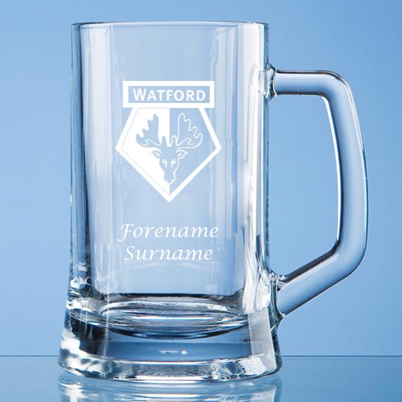 Watford FC Personalised Crest Small Plain Straight Sided Tankard