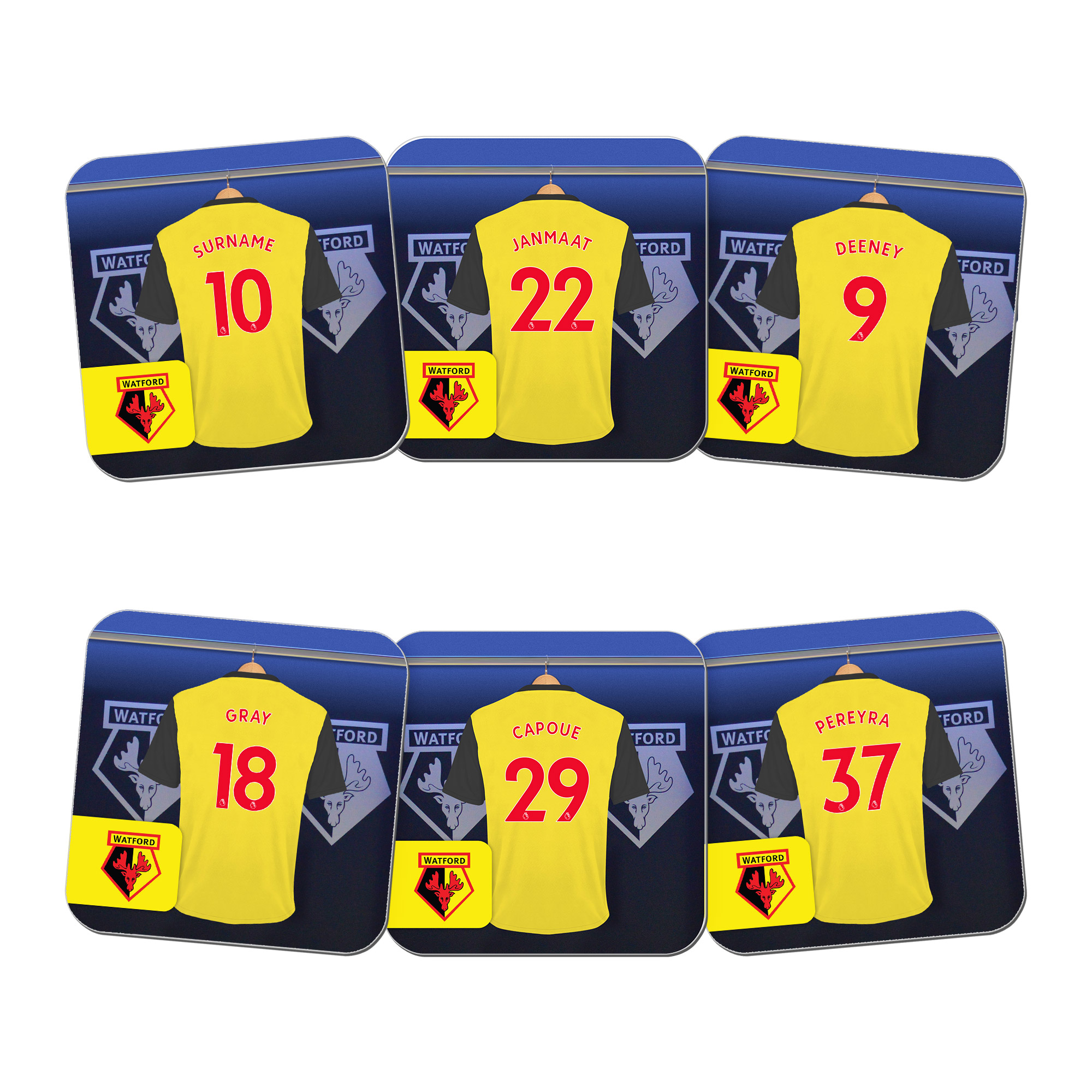 Watford FC Dressing Room Coasters
