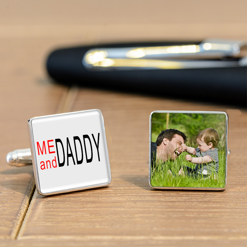 Me and Daddy Photo Cufflinks