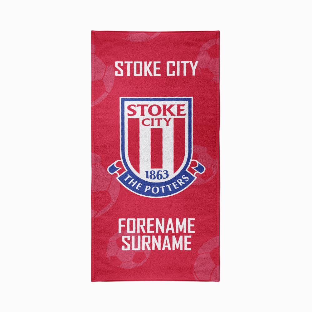 Stoke City Crest Design Towel - 70cm x 140cm