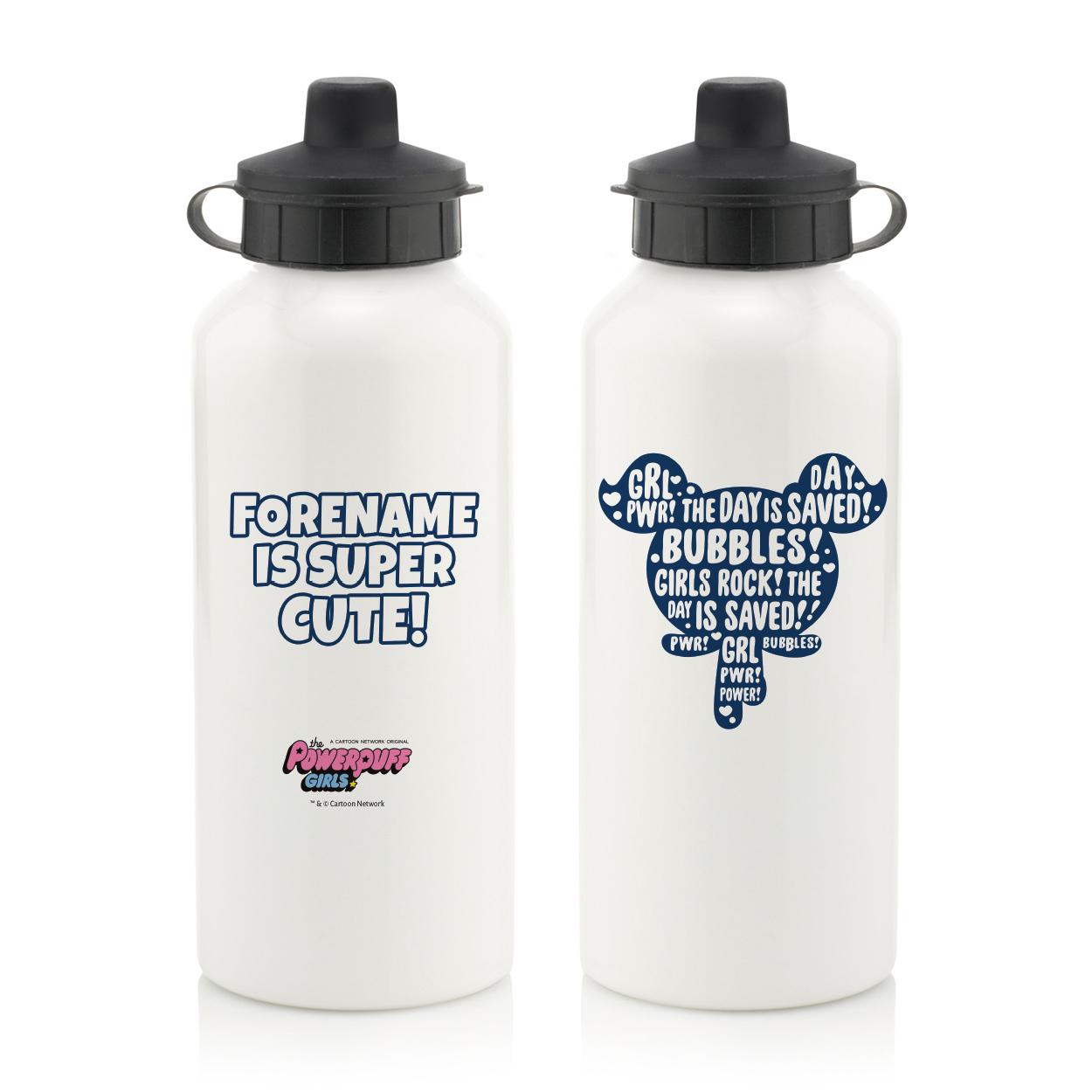 Powerpuff Girls Bubbles Silhouette Water Bottle