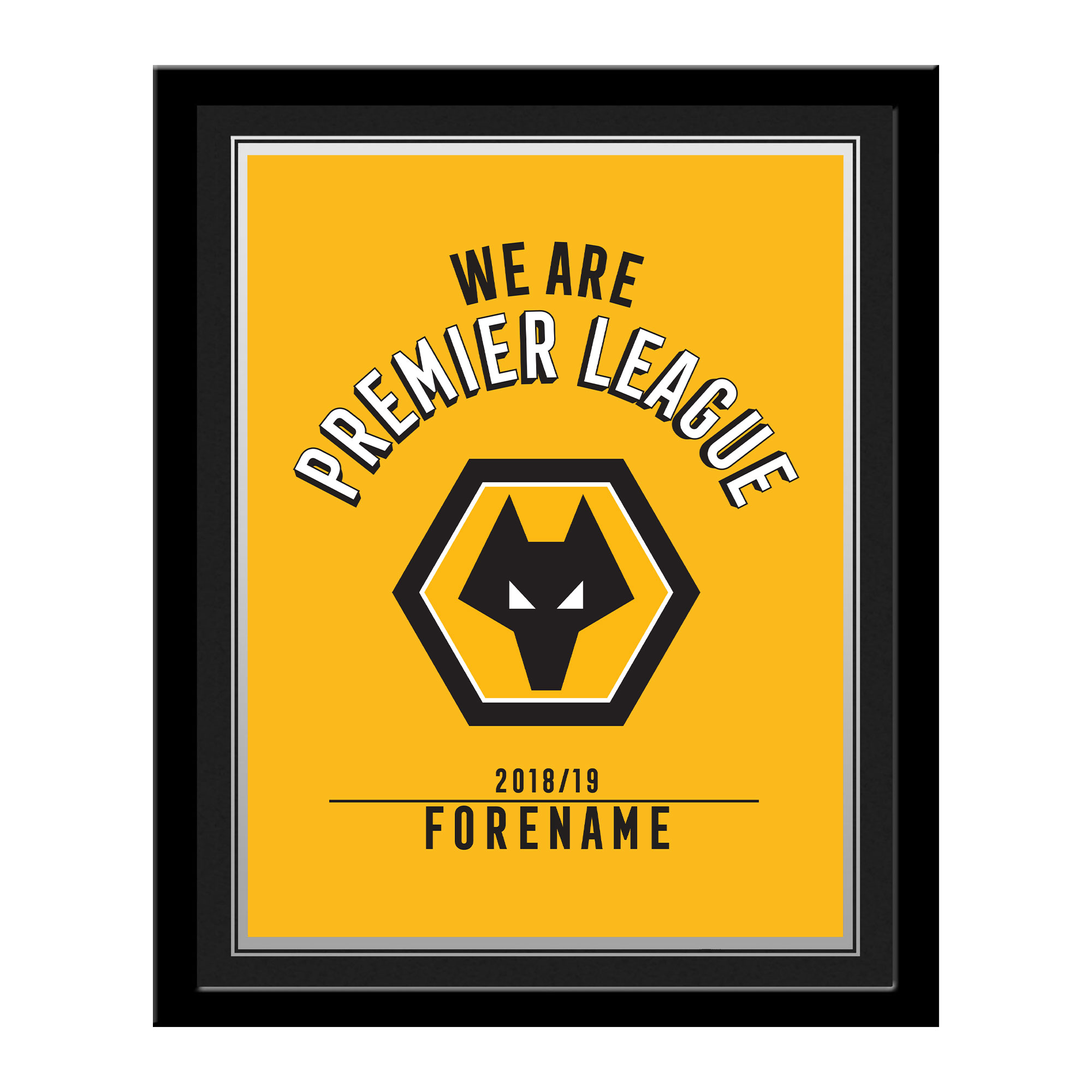 Wolves We Are Premier League Photo Framed