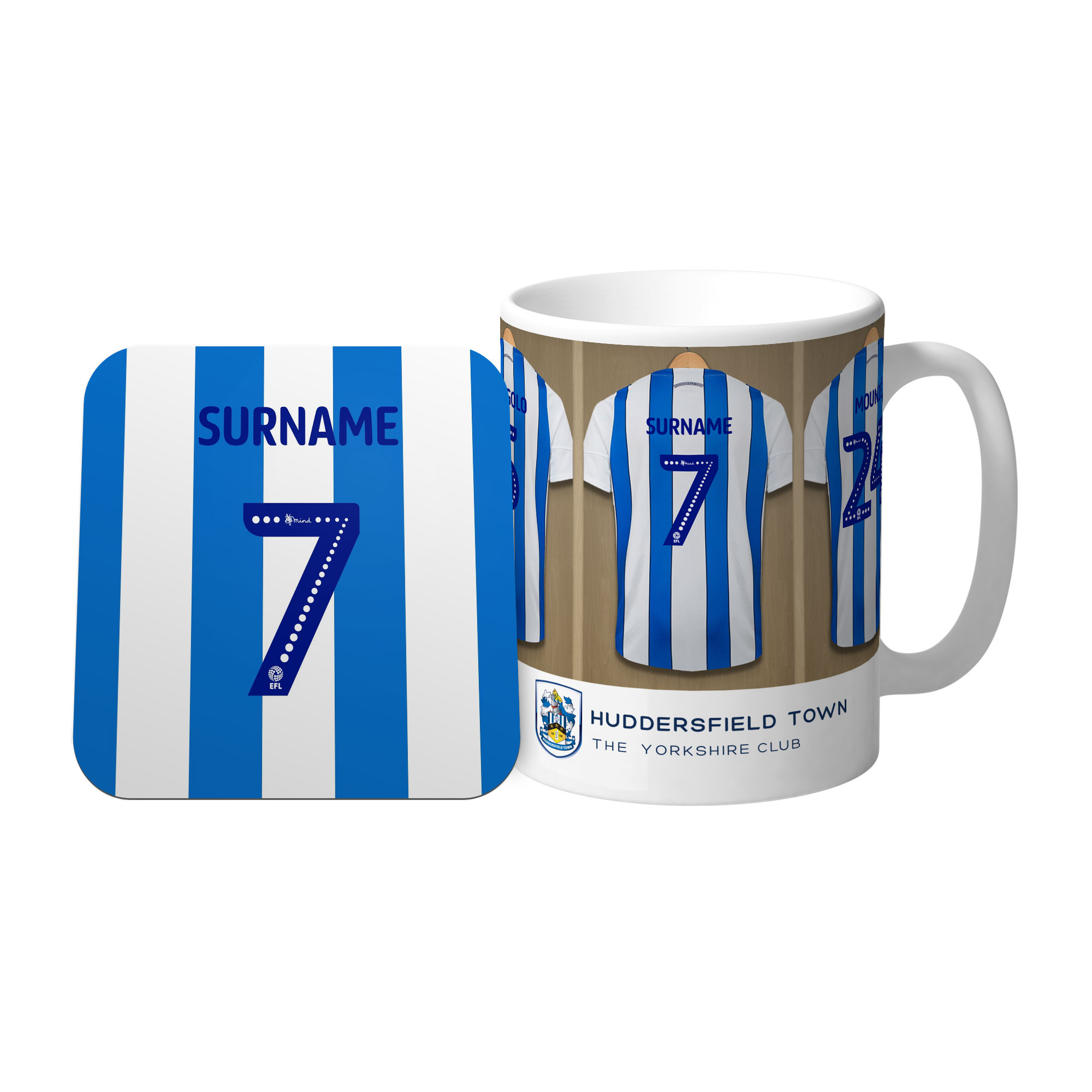 Huddersfield Town AFC Dressing Room Mug & Coaster Set