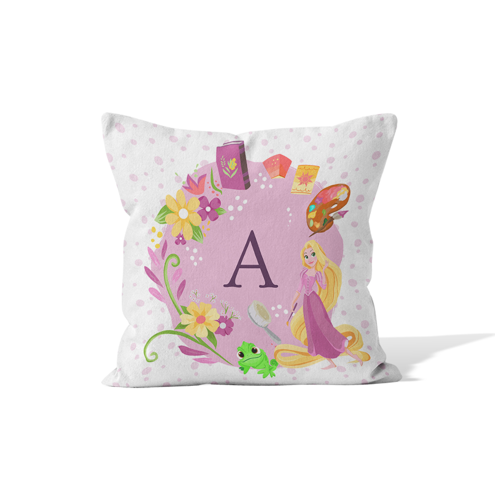 Disney Princess Rapunzel Initial Cushion