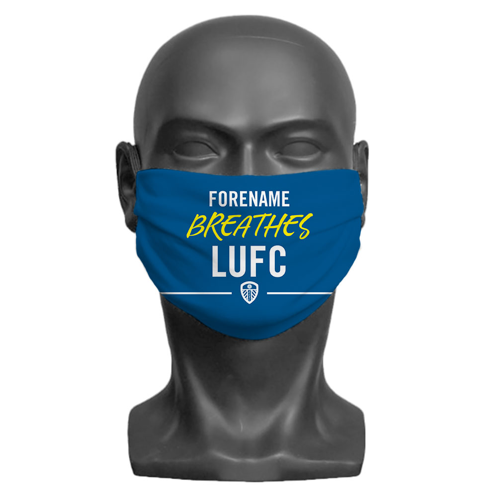 Leeds United FC Breathes Adult Face Mask (Large)