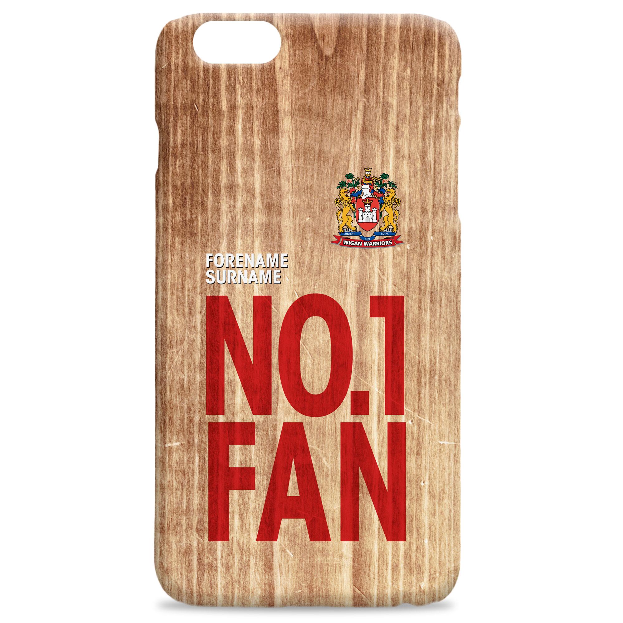 Wigan Warriors No 1 Fan Hard Back Phone Case