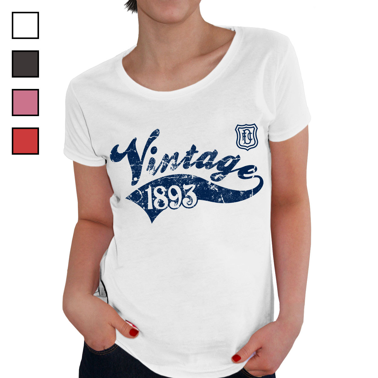 Dundee FC Ladies Vintage T-Shirt