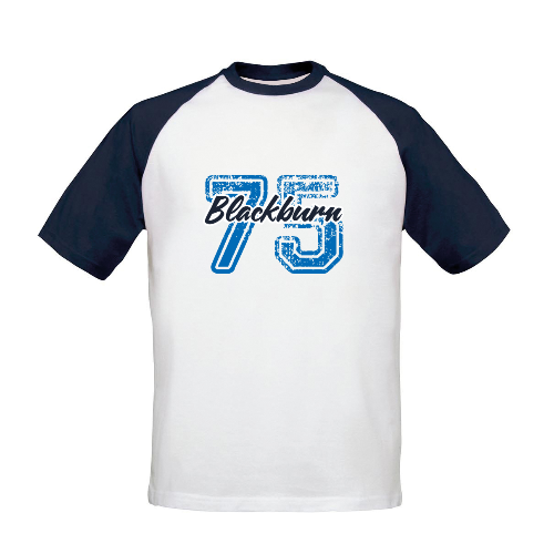 Blackburn Rovers FC Varsity Number Baseball T-Shirt