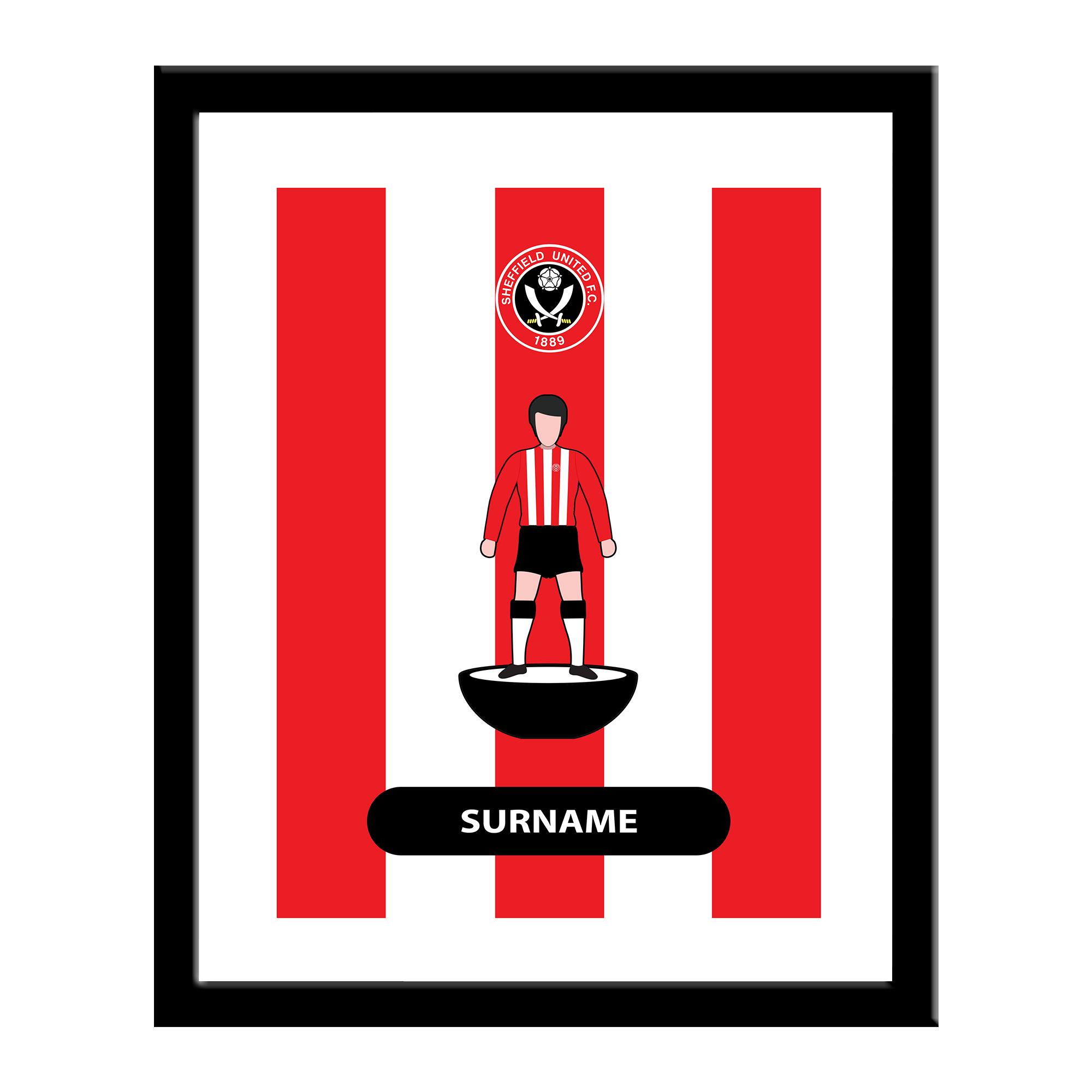 Sheffield United FC Player Figure Print