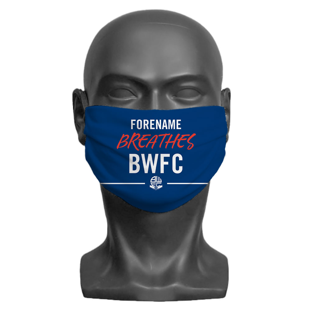 Bolton Wanderers FC Breathes Adult Face Mask (Large)