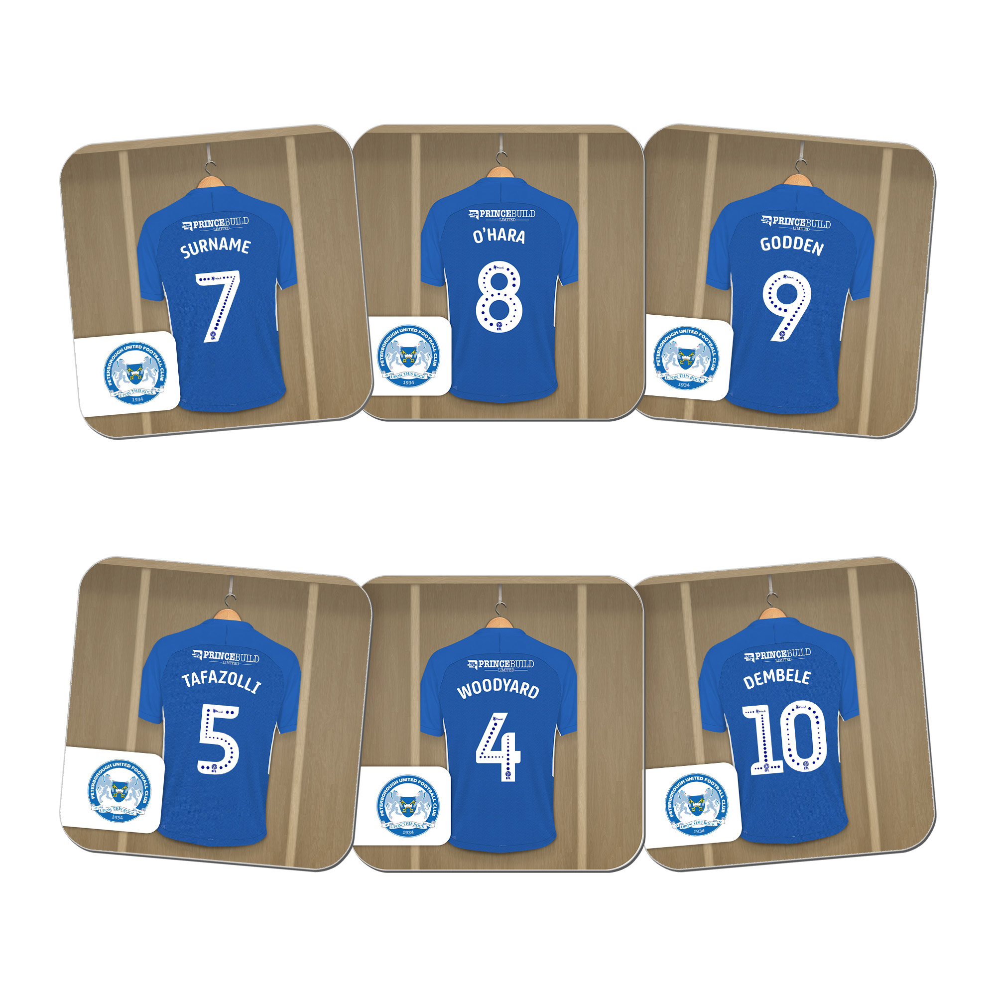 Peterborough United FC Dressing Room Coasters