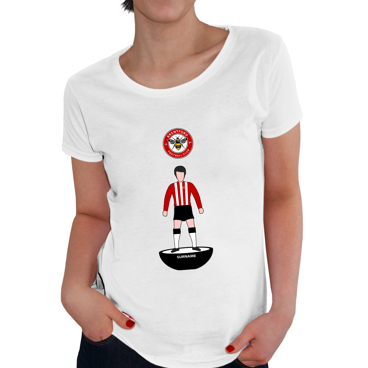 Brentford Player Figure Ladies T-Shirt