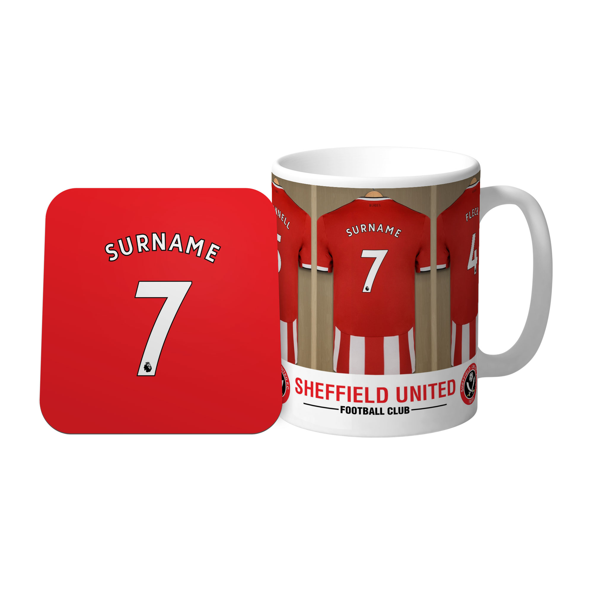 Sheffield United FC Dressing Room Mug & Coaster Set