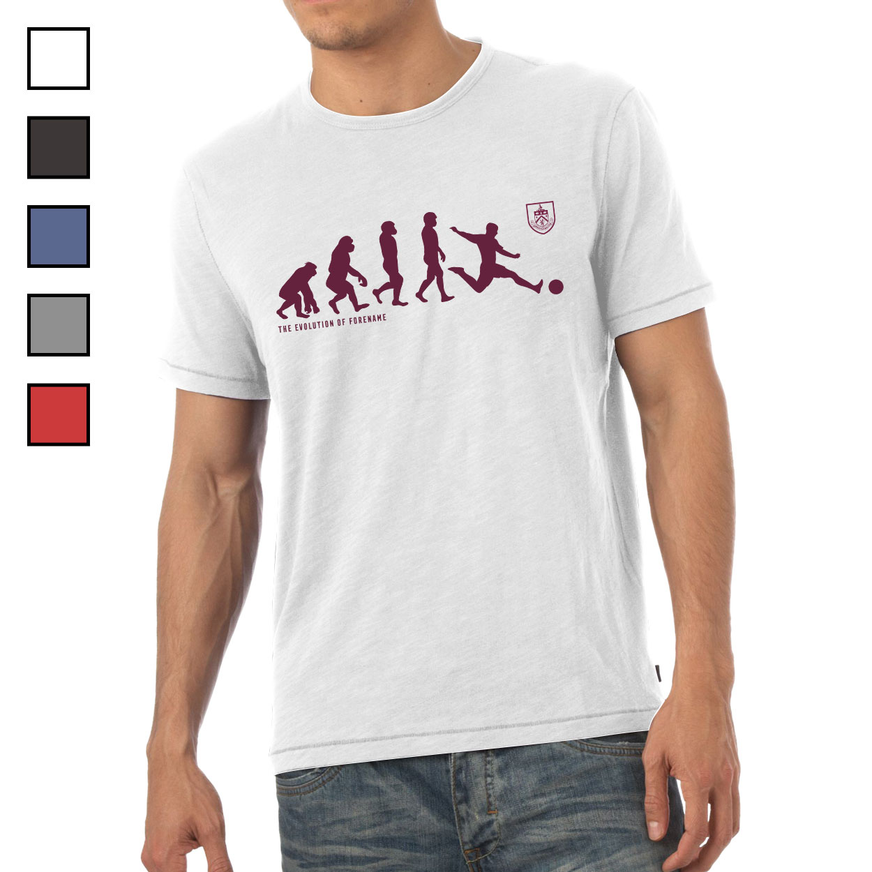 Burnley FC Evolution Mens T-Shirt