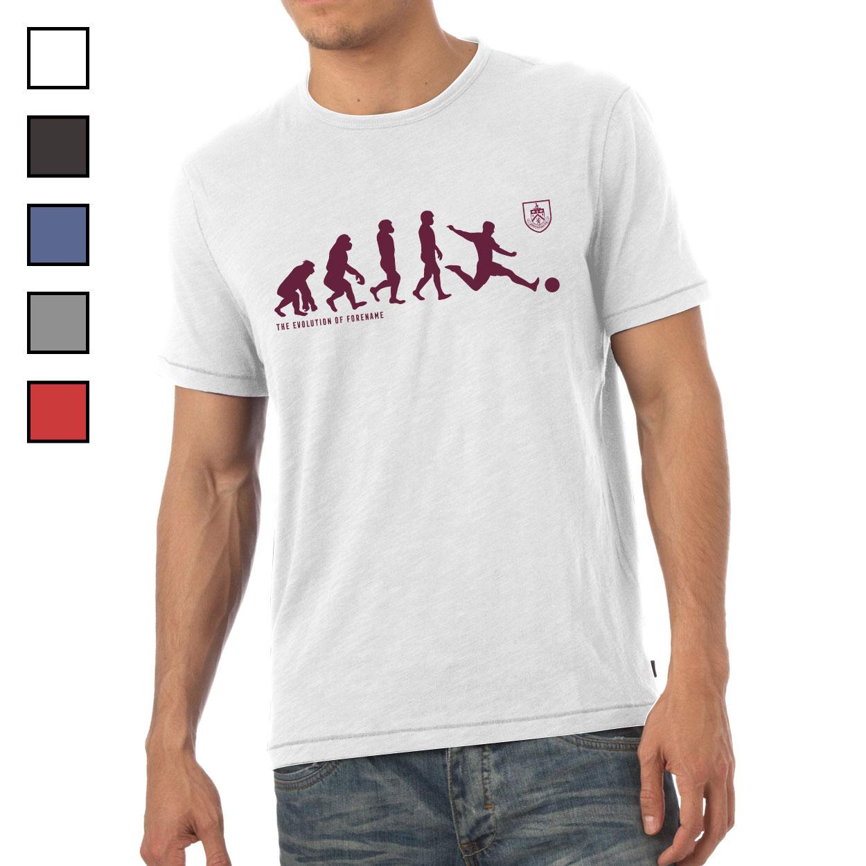 Burnley FC Evolution Mens T-Shirt