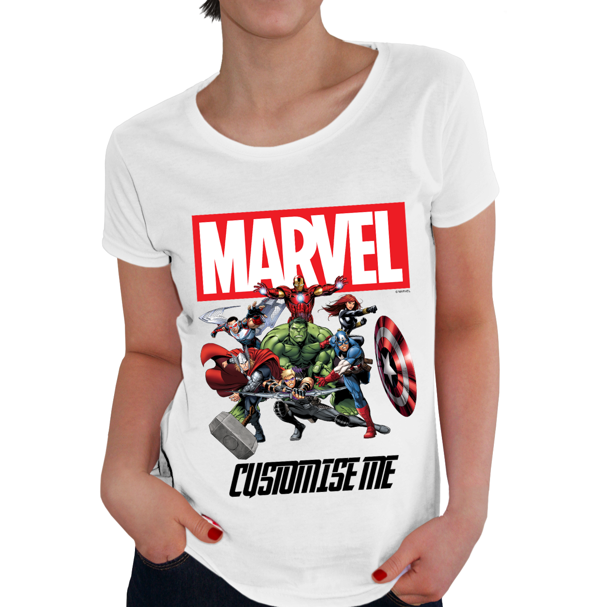 Marvel Avengers Group Womens T-Shirt
