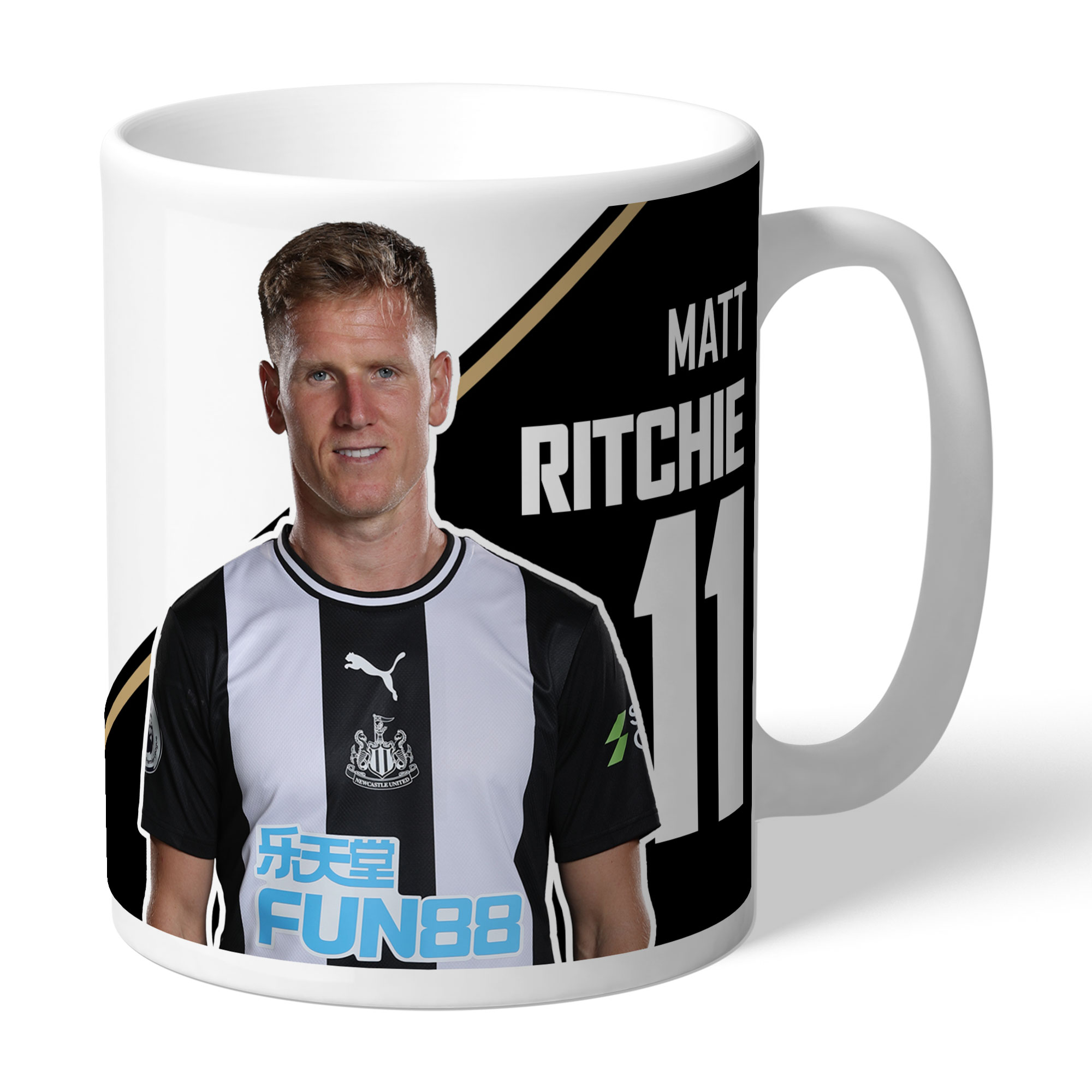 Newcastle United FC Ritchie Autograph Mug