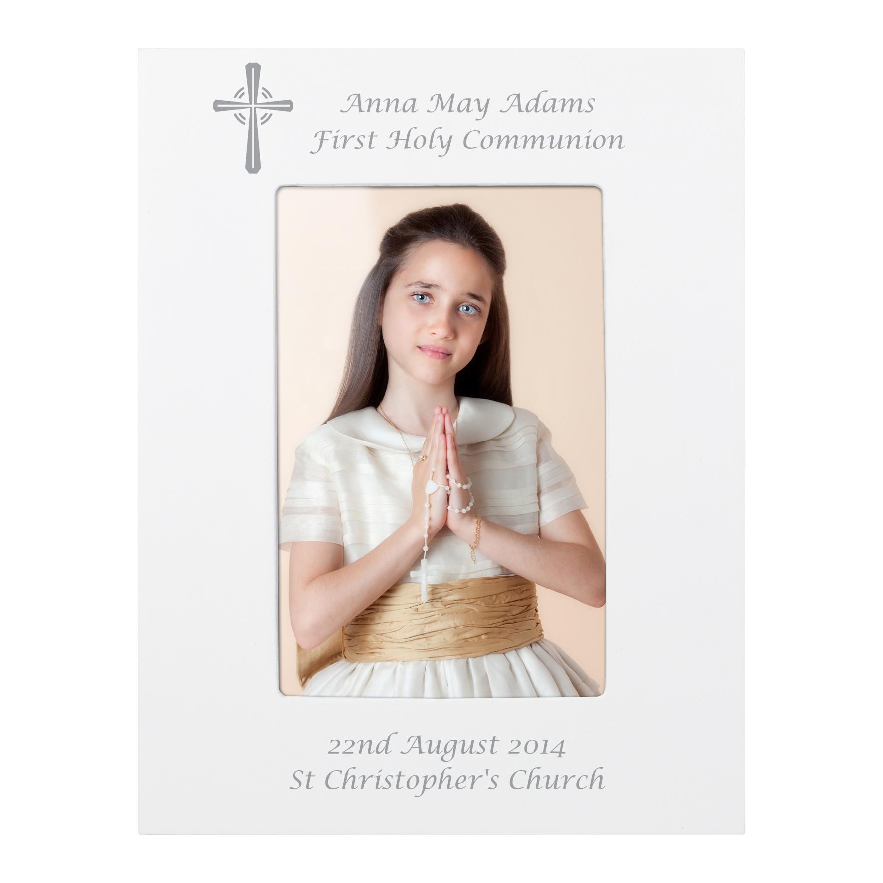 Personalised Cross White Frame