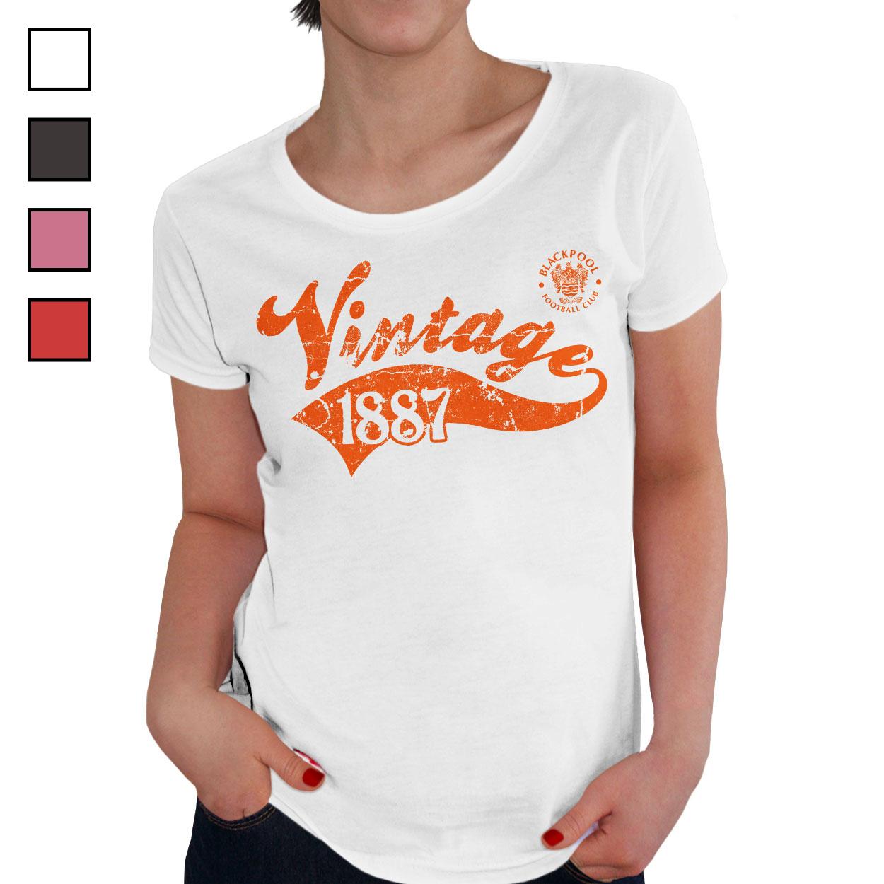 Blackpool FC Ladies Vintage T-Shirt