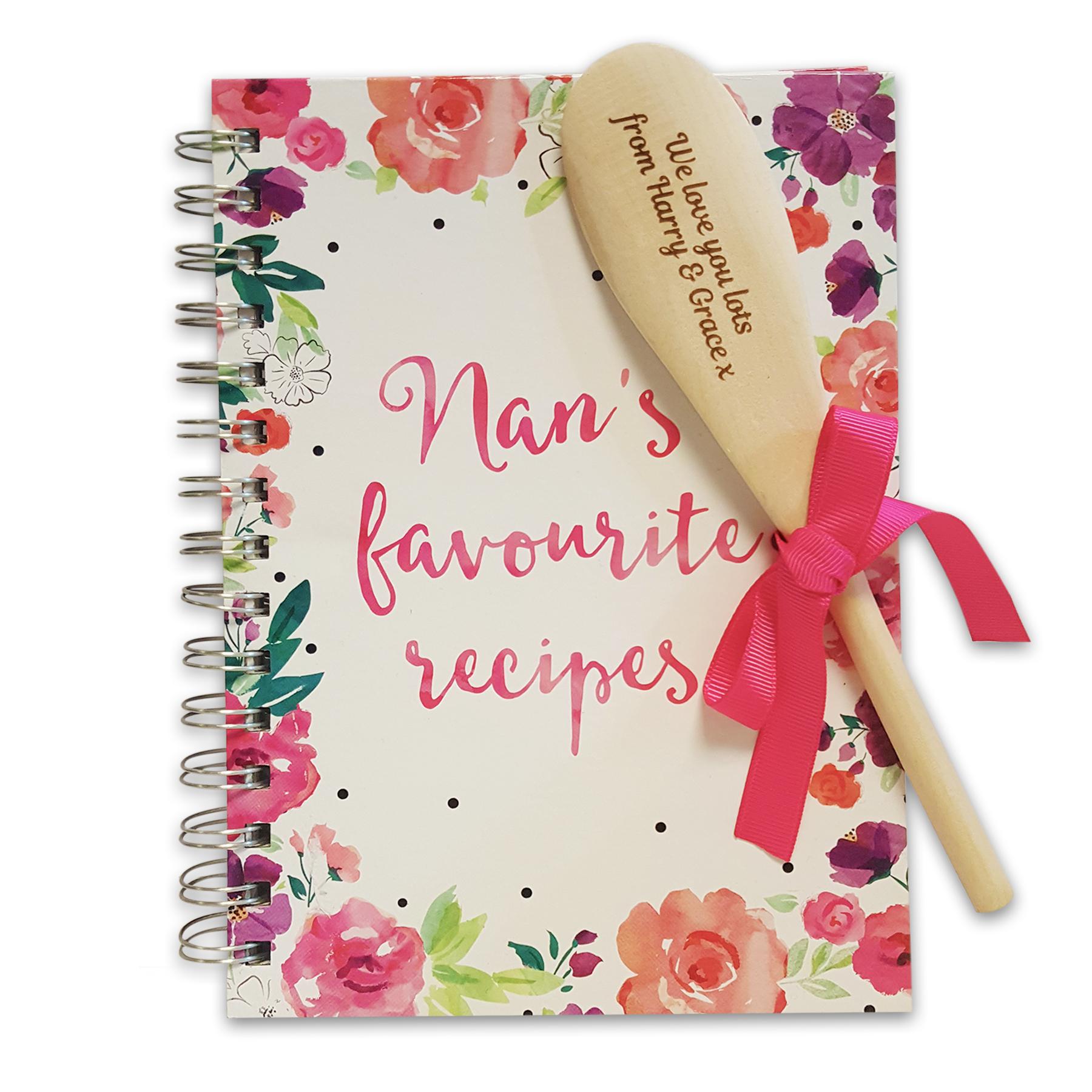 Nan's Favourite Recipe Book and Spoon