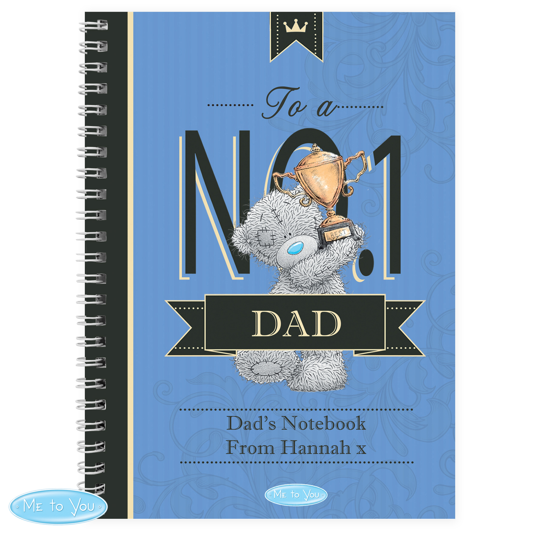 Personalised Me to You No1 Paperback Notebook