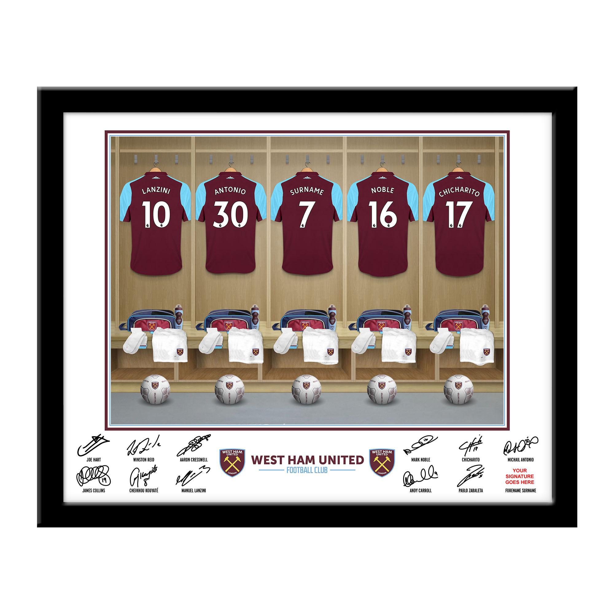 West Ham United FC Dressing Room Framed Print