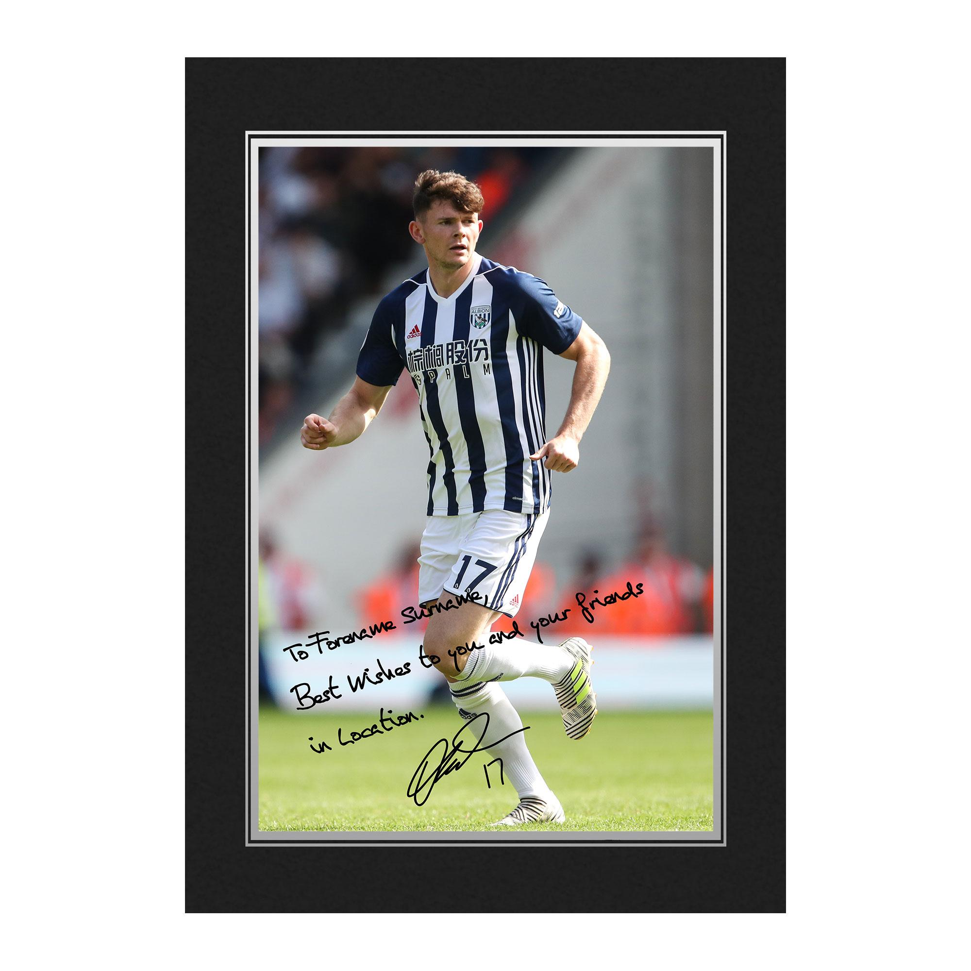 West Bromwich Albion FC Burke Autograph Photo Folder