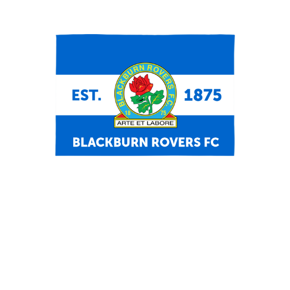 Blackburn Rovers Supporters 3ft x 2ft Banner