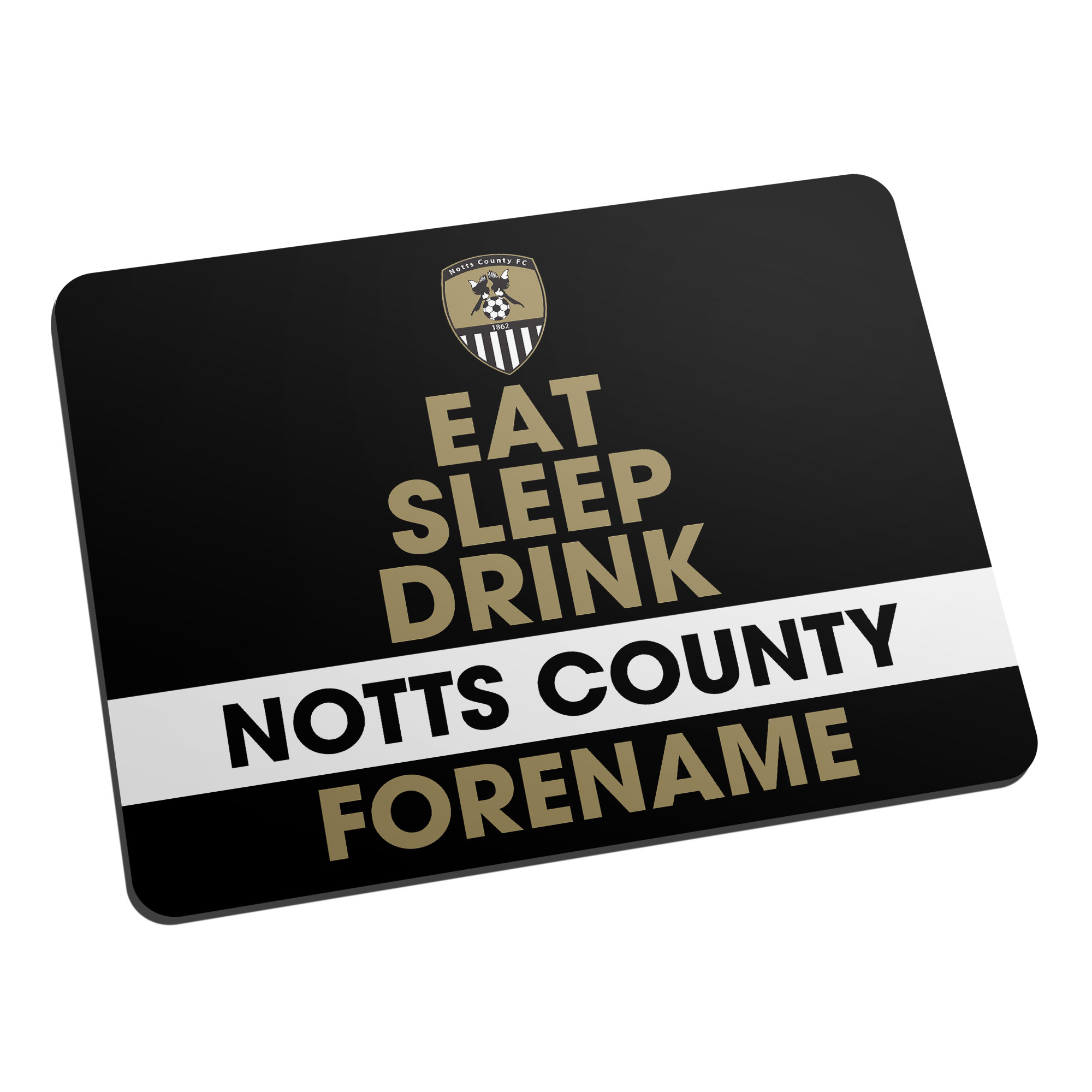 Notts County FC Eat Sleep Drink Mouse Mat