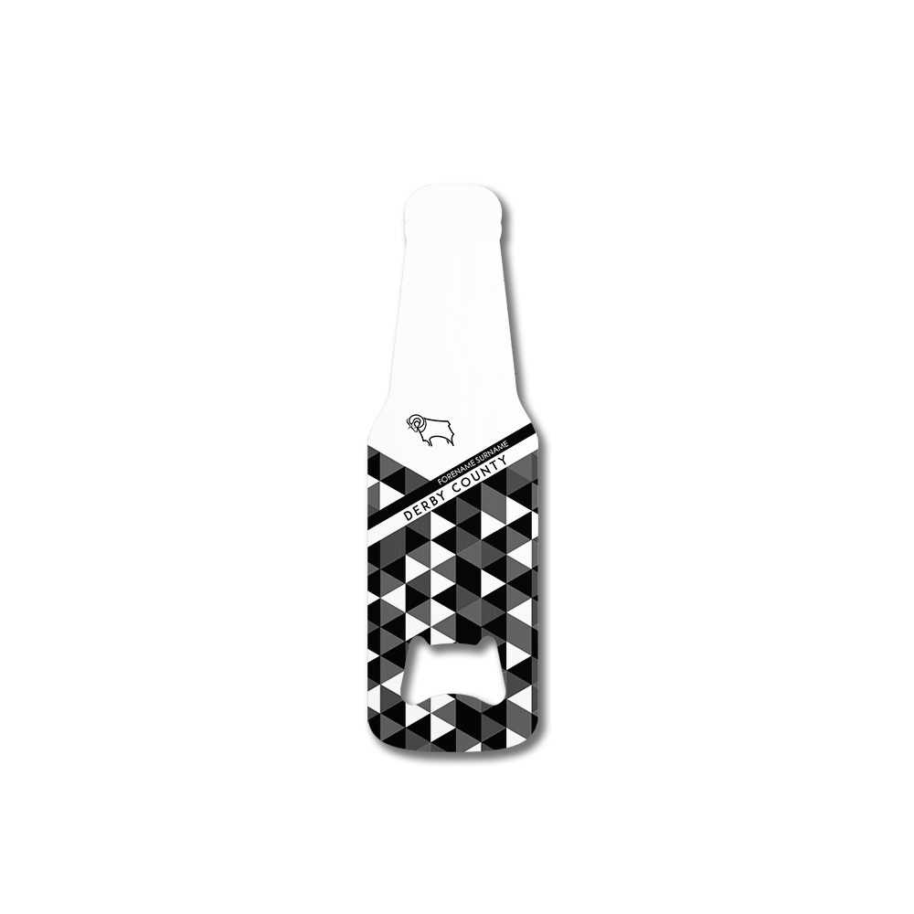 Derby County Patterned Bottle Shaped Bottle Opener