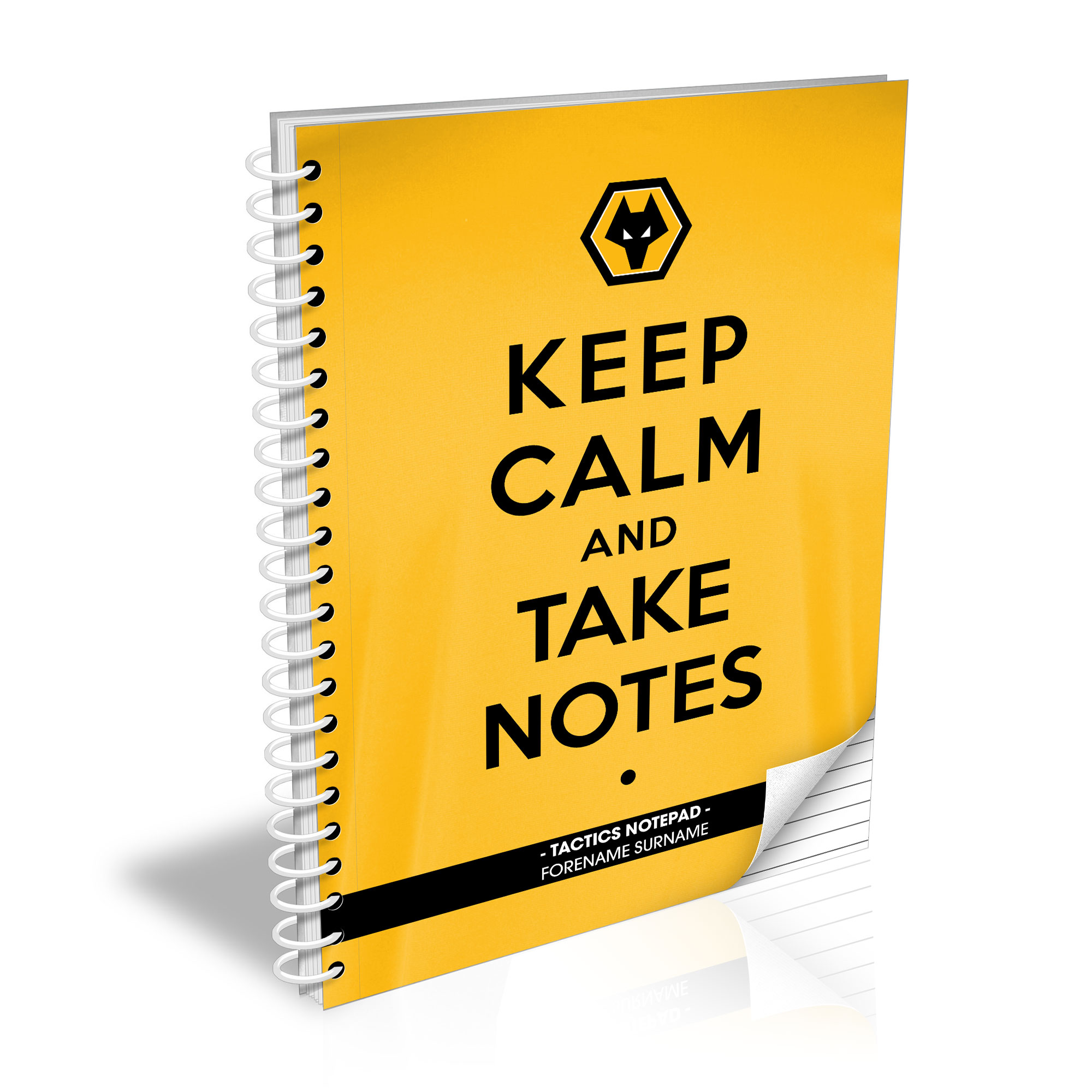 Wolves Keep Calm Notebook