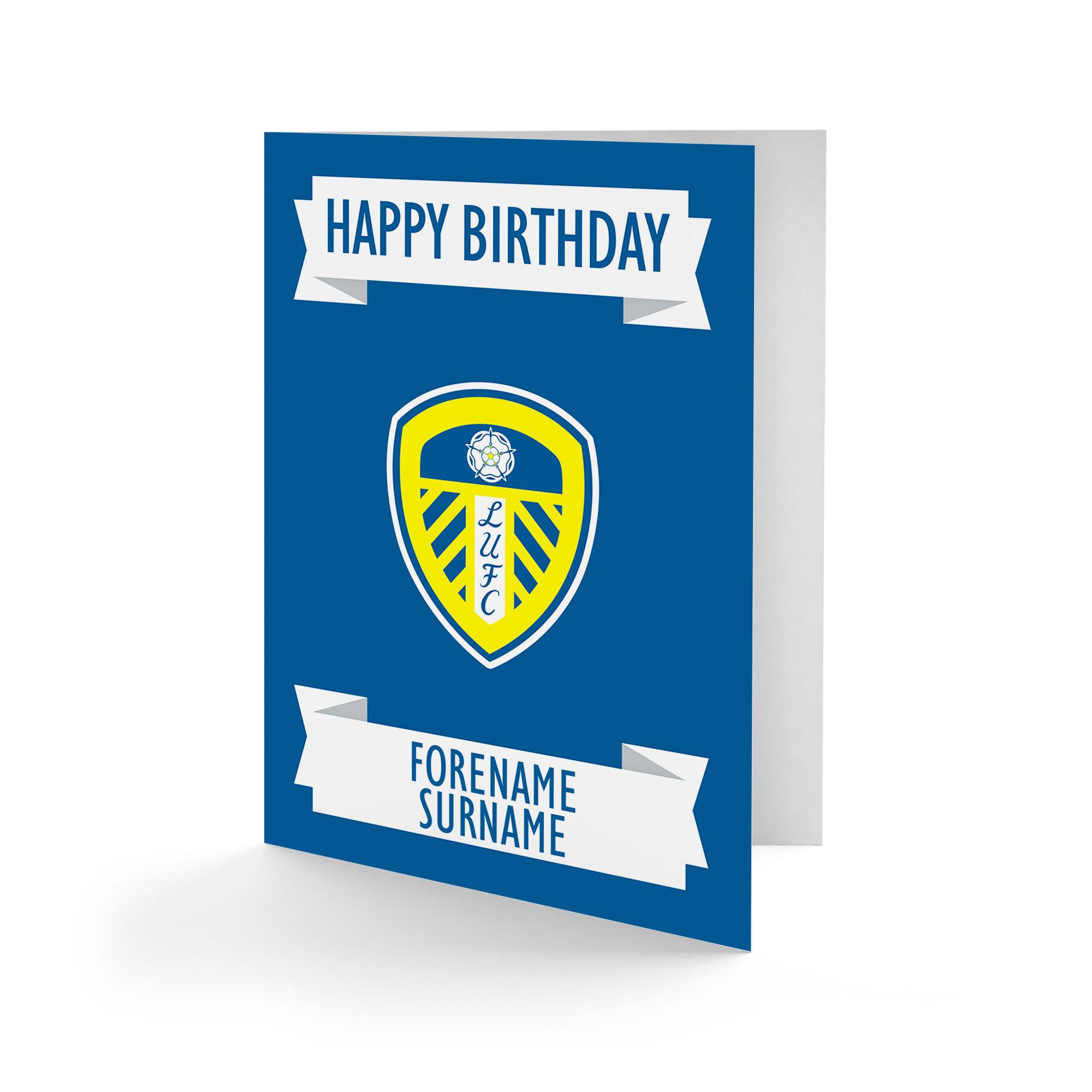f83292f045 Leeds United FC Crest Birthday Card