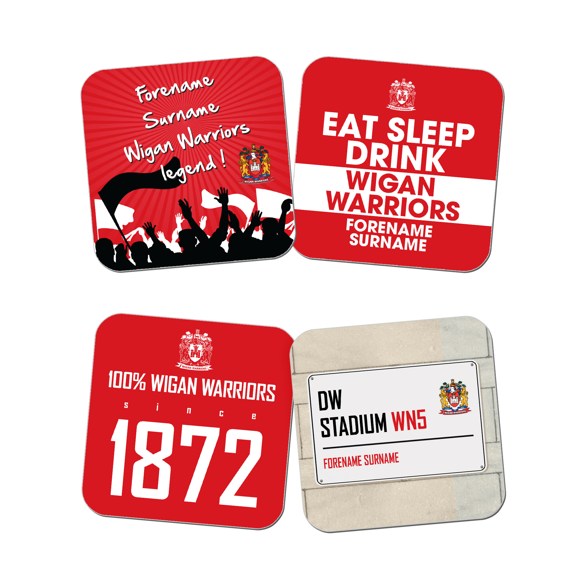 Wigan Warriors Coasters