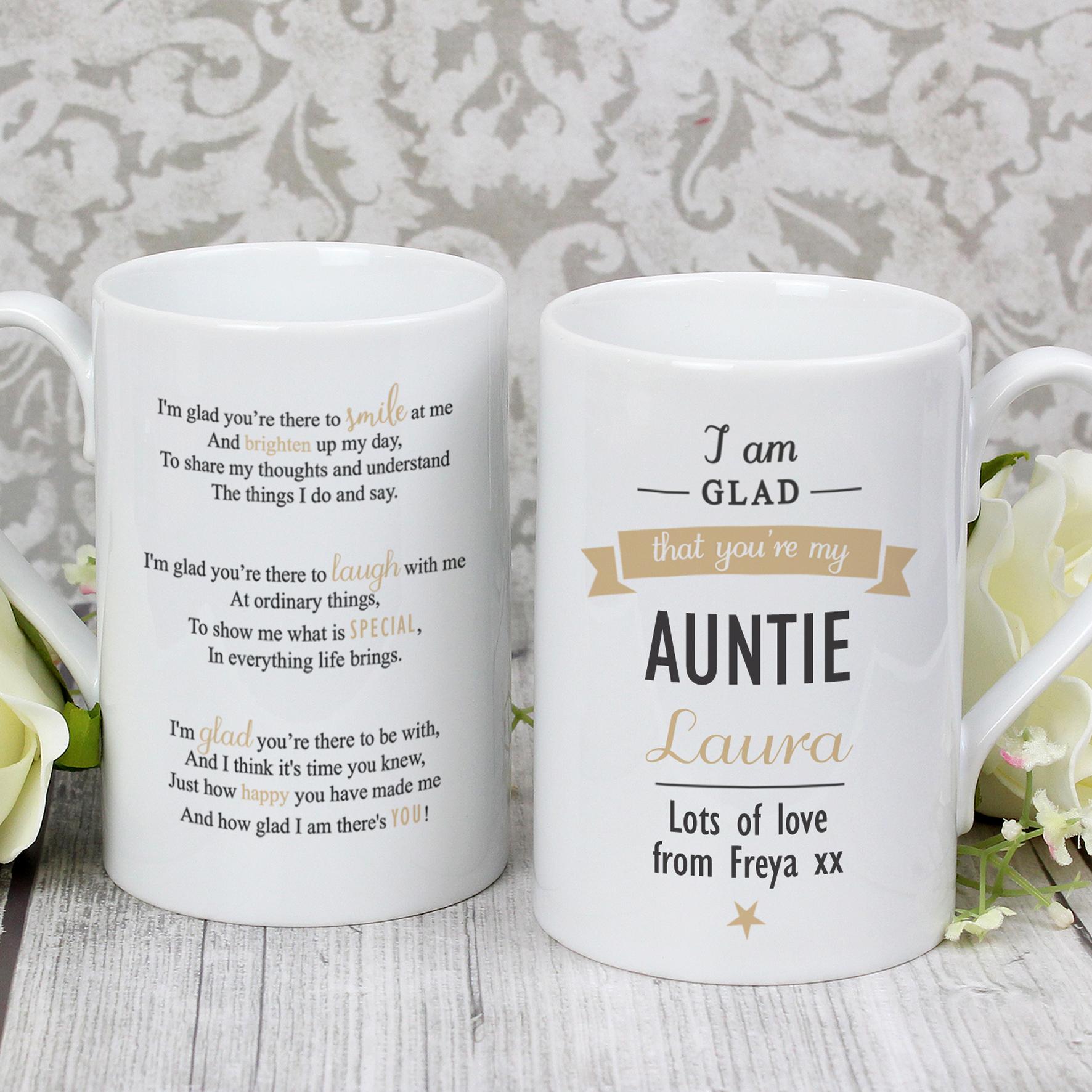 Personalised I Am Glad... Slim Mug