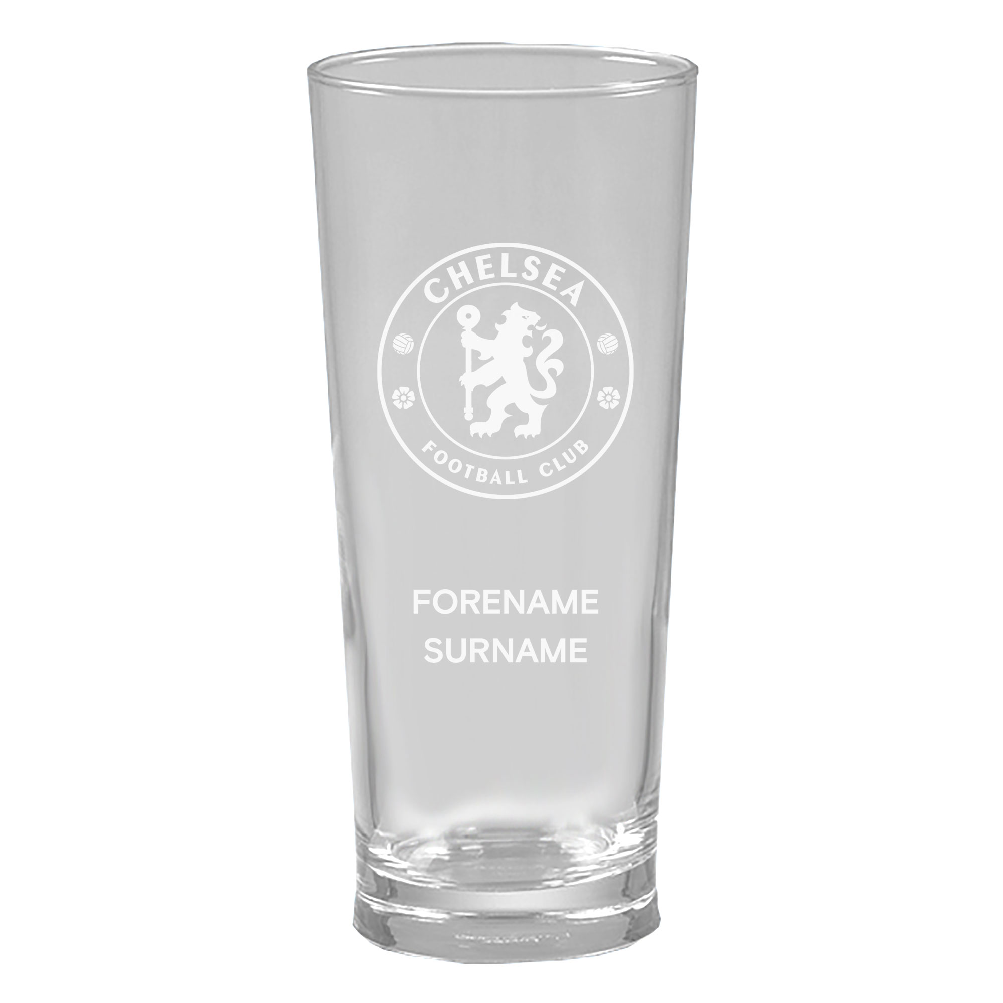 Chelsea FC Personalised Crest Straight Sided Beer Glass